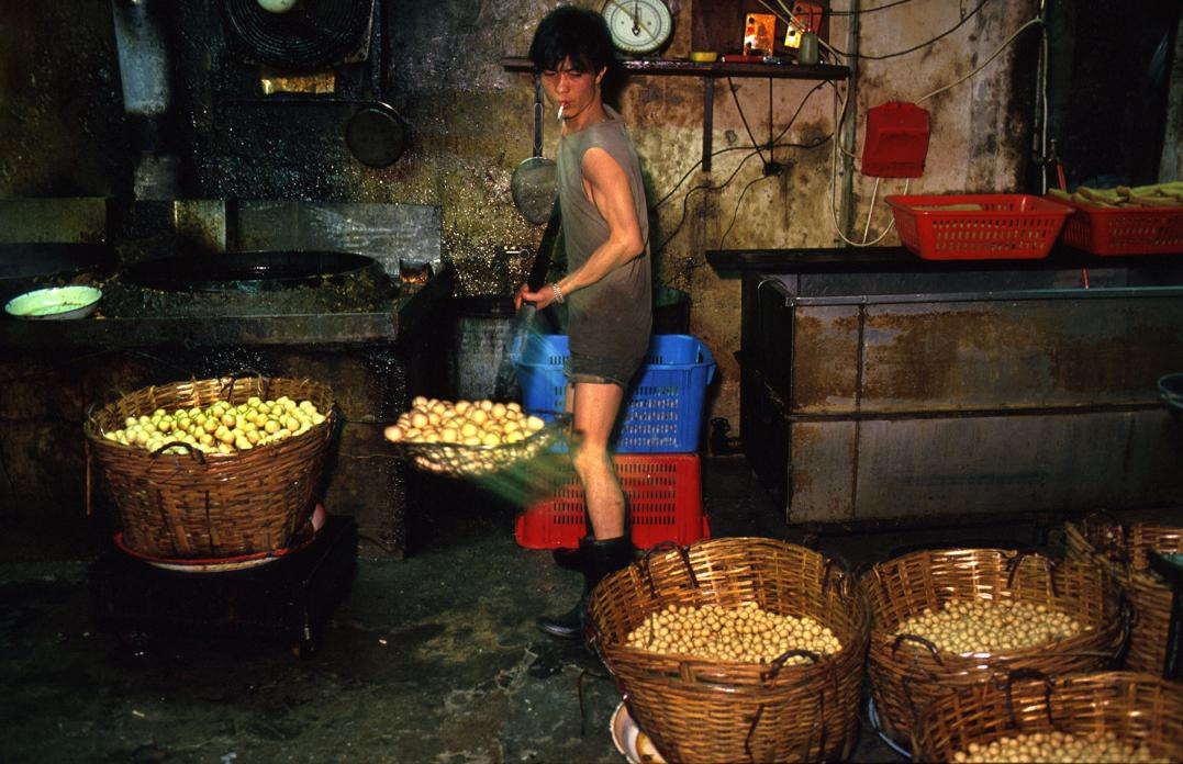 Worker in Fishball Factory, 1987