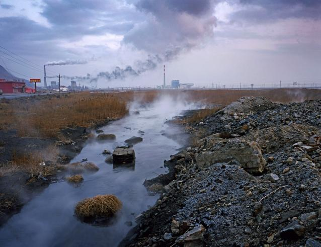 Factory Discharge, Inner Mongolia. 'Bitter Waters'. National Geographic, May 2008