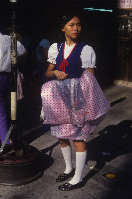 Girl in Street, Yaumatei, 1985